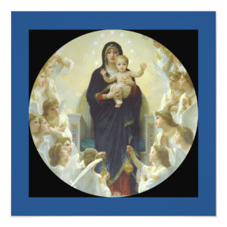 Regina Angelorum Mary with Angels Card