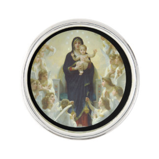 Regina Angelorum Mary with Angels Pin