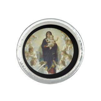 Regina Angelorum Mary with Angels Rings
