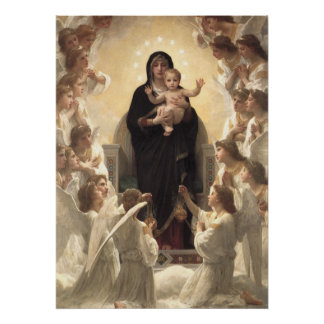 Regina Angelorum por Bouguereau, ángeles del Poster