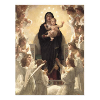 Regina Angelorum por Bouguereau, ángeles del Postal