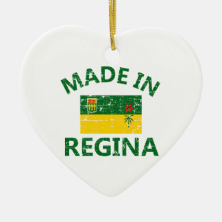 Regina Coat of arms Double-Sided Heart Ceramic Christmas Ornament