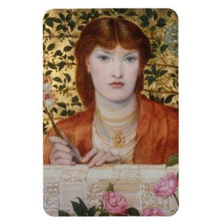 Regina Cordium - Dante Gabriel Rossetti Flexible Magnets