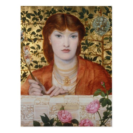 Regina Cordium - Dante Gabriel Rossetti Tarjeta Postal
