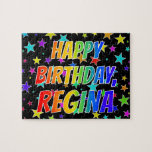 "[ Thumbnail: ""Regina"" First Name, Fun ""Happy Birthday"" Jigsaw Puzzle ]"