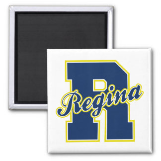 Regina Letter 2 Inch Square Magnet