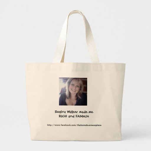 Regina Made Me Rich And Famous Large Tote Bag