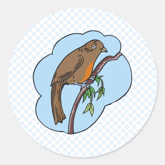 Regina Robin Classic Round Sticker