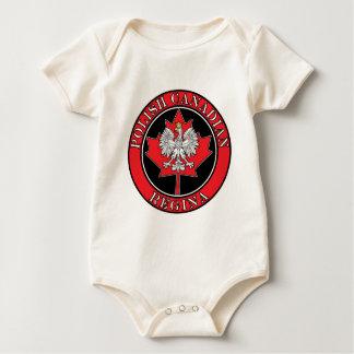 Regina Round Polish Canadian Leaf Baby Bodysuit