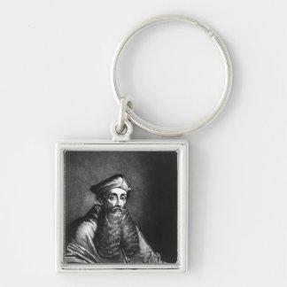 Reginald Pole  illustration Silver-Colored Square Keychain