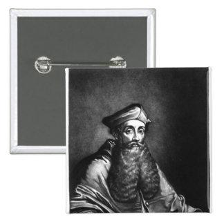 Reginald Pole  illustration Pinback Button