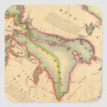 Región 42 de Great Lakes Pegatina Cuadrada