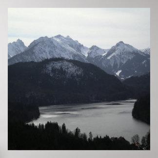 Región alpina de poster de Alemania