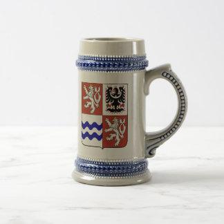 Región bohemia central, checa jarra de cerveza