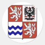 Región bohemia central, checa pegatinas redondas