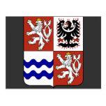 Región bohemia central, checa tarjeta postal