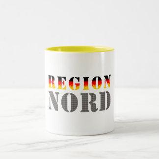 Región boreal Norddeutschland Taza De Dos Tonos