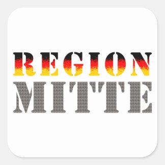 Region center - Central Germany Square Sticker