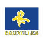 Región de bandera de Bruselas con el nombre Postal