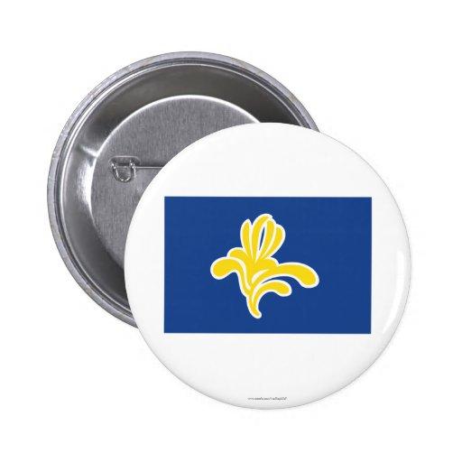 Región de bandera de Bruselas Pin Redondo 5 Cm