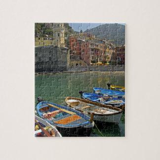 Región de Europa, Italia, Liguria, Cinque Terre, 2 Puzzle Con Fotos