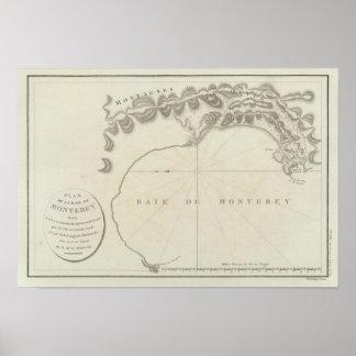 Región de la bahía de Monterey, California Póster