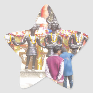 Región de la capital nacional de la India del Pegatina En Forma De Estrella