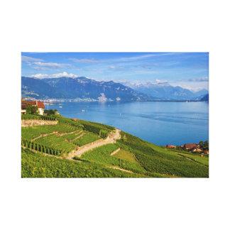 Región de Lavaux, Vaud, Suiza Impresion En Lona