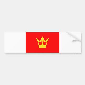 Región de Noruega de la bandera de Vestfold Pegatina De Parachoque