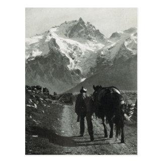 Región de Suiza Jungfrau del vintage Postal