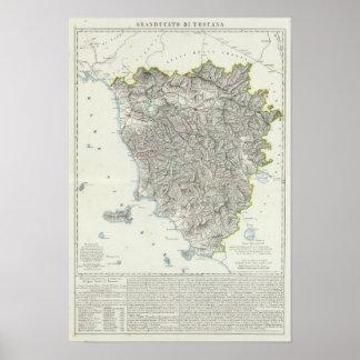 Región de Toscana Italia Póster