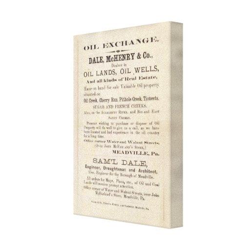Región del aceite de Pennsylvania Impresión En Lona Estirada