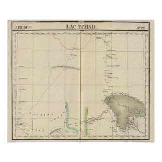 Región del lago chad, África Póster