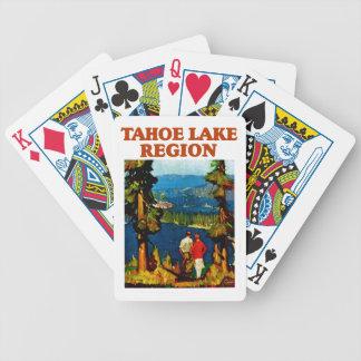Región del lago Tahoe Baraja Cartas De Poker
