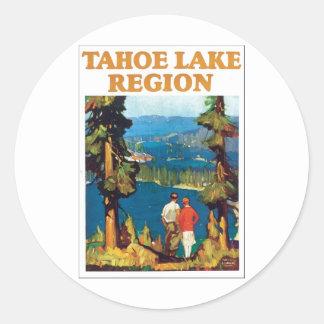 Región del lago Tahoe Pegatina Redonda