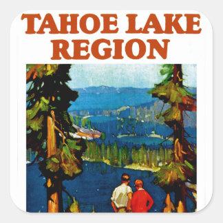 Región del lago Tahoe Pegatina Cuadrada