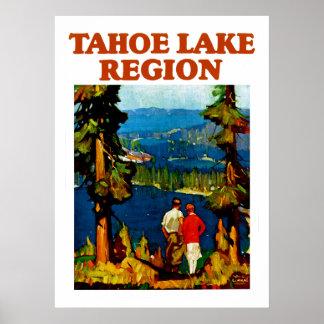 Región del lago Tahoe Póster