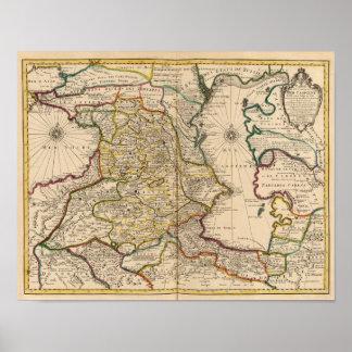 Región del mar Caspio Poster