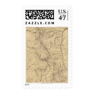 Región del paso de TruckeeDonner de la topografía, Timbre Postal