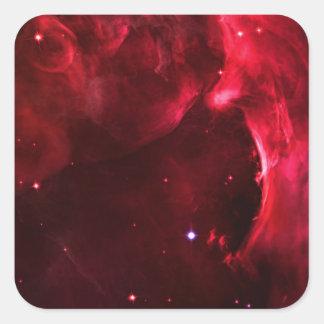 Región esculpida de la nebulosa de Orión Pegatina Cuadrada