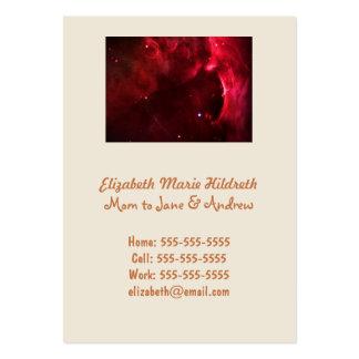 Región esculpida de la nebulosa de Orión Tarjetas De Visita Grandes