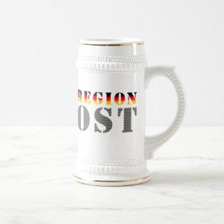 Región este - este de alemania tazas de café