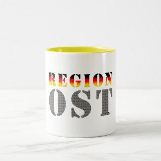 Región este - este de alemania taza de café