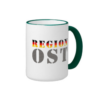 Región este - este de alemania taza de dos colores