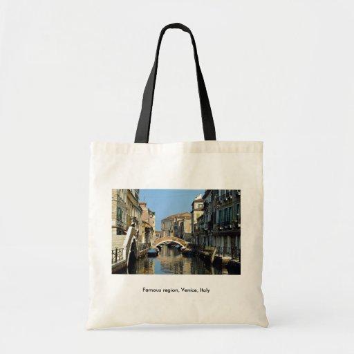 Región famosa, Venecia, Italia Bolsa Tela Barata