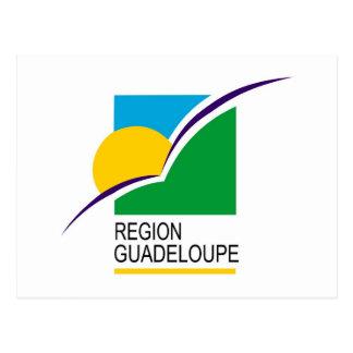 Region Guadeloupe flag Postcard
