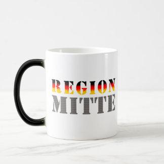 Región medio - Mitteldeutschland Tazas De Café