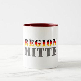 Región medio - Mitteldeutschland Taza De Café