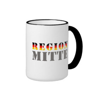 Región medio - Mitteldeutschland Taza De Dos Colores