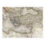 Región mediterránea tarjeta postal